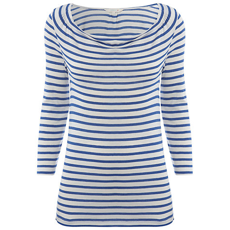 Buy White Stuff Bayswater Stripe Tee, Chelsea Blue Online at johnlewis.com
