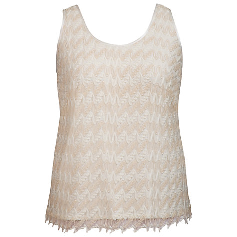Buy Chesca Satin Trim Lace Camisole Top, Gold Online at johnlewis.com