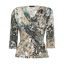 Buy James Lakeland Drape Print Top, Grey Online at johnlewis.com