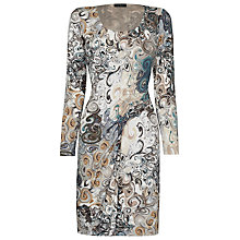 Buy James Lakeland Long Sleeve Print Dress, Grey Online at johnlewis.com