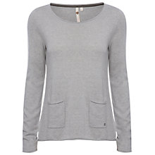 Buy White Stuff Mork Plain Top, Husky Grey Online at johnlewis.com