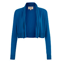 Buy Havren Cashmere Blend Cropped Cardigan, Kingfisher Online at johnlewis.com