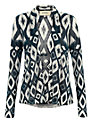 Buy Havren Aztec Print Cardigan, Navy, 10 Online at johnlewis.com