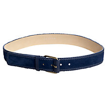 Buy Jigsaw Suede Plait Jeans Belt, Navy Online at johnlewis.com