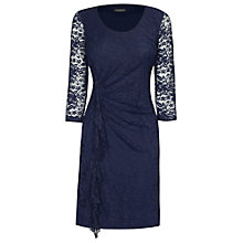 Buy James Lakeland Ruffle Lace Dress, Navy Online at johnlewis.com