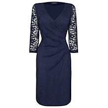 Buy James Lakeland Ruched Lace Dress, Navy Online at johnlewis.com