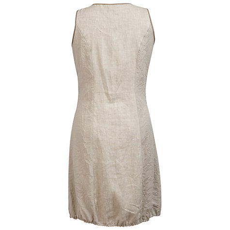 Buy Chesca Linen Zip Dress, Cream Online at johnlewis.com