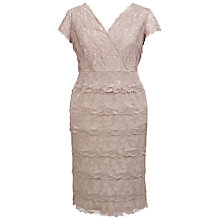 Buy Chesca Lace Layer Dress, Sand Online at johnlewis.com