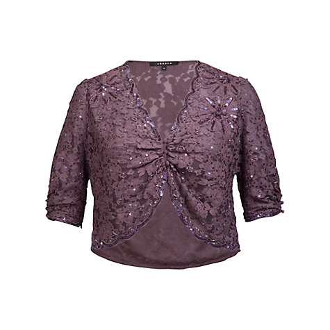Buy Chesca Beaded Lace Bolero, Haze Online at johnlewis.com