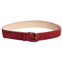 Buy Jigsaw Suede Plait Jeans Belt, Red Online at johnlewis.com