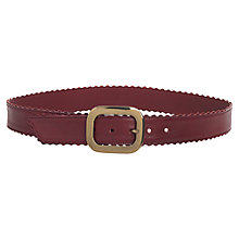 Buy Jigsaw Scallop Edge Jeans Belt Online at johnlewis.com
