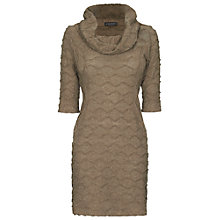 Buy James Lakeland Cowl Neck Knitted Dress, Mink Online at johnlewis.com