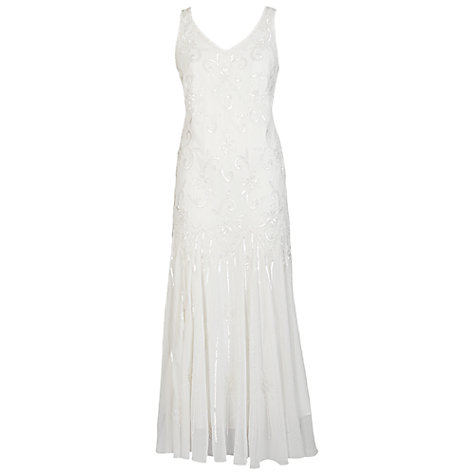 Buy Chesca Beaded Flapper Dress, Ivory Online at johnlewis.com