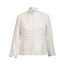 Buy Chesca Tuck Detail Zip-Up Jacket, White Online at johnlewis.com