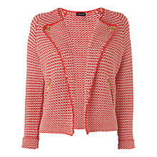 Buy Jaeger Biker Textured Jacket, Red Online at johnlewis.com