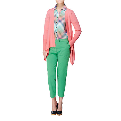 Buy Jaeger Silk Back Cardigan, Pale Pink Online at johnlewis.com