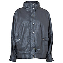 Buy Jaeger Italian Chintz Raglan Jacket, Navy Online at johnlewis.com