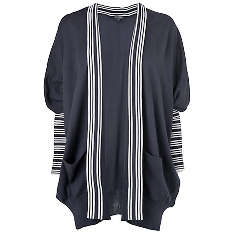 Buy Jaeger Drape Batwing Cardigan, Navy Online at johnlewis.com