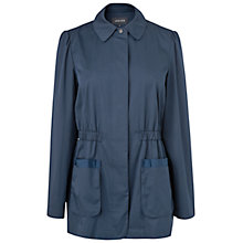 Buy Jaeger Gathered Waist Mac, Navy Online at johnlewis.com