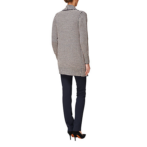Buy Jaeger Textured Long Cardigan, Navy Online at johnlewis.com