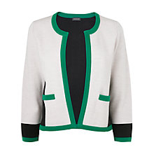 Buy Jaeger Colour Block Cardigan, Green Online at johnlewis.com