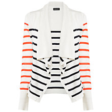 Buy Jaeger Stripe Waterfall Cardigan, Multi Online at johnlewis.com