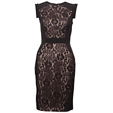 Buy Adrianna Papell Lace Block Sheath Dress, Black Online at johnlewis.com