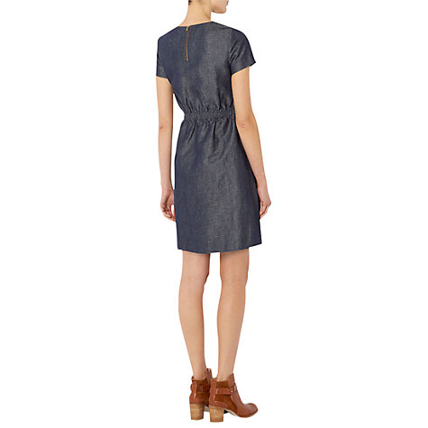 Buy NW3 Bow Swing Dress, Indigo Online at johnlewis.com