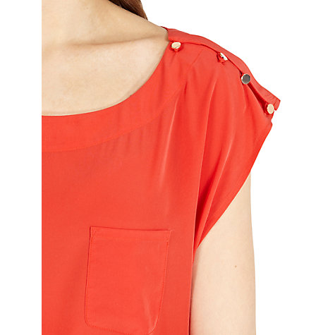 Buy Oasis Button Shoulder T-Shirt Online at johnlewis.com