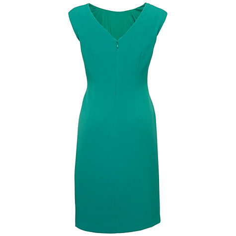 Buy Adrianna Papell Front Ruffle Sheath Dress, Jade Online at johnlewis.com