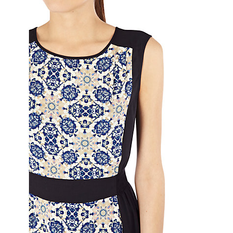 Buy Warehouse Tile Pattern Dress, Blue Online at johnlewis.com