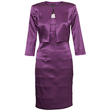 Buy Adrianna Papell Banded Jacket Dress, Aubergine Online at johnlewis.com