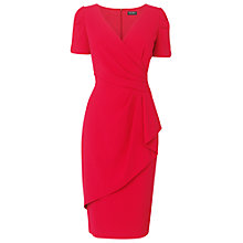 Buy Phase Eight Pauline Frill Dress, Raspberry Online at johnlewis.com