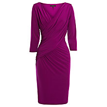 Buy Coast Anda Jersey Dress, Magenta Online at johnlewis.com