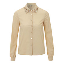 Buy NW3 Vintage Poppy Blouse, Nude Online at johnlewis.com