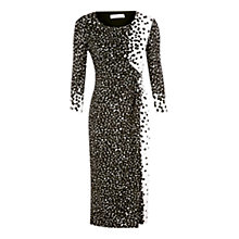 Buy Windsmoor Graduated Spot Jersey Dress, Black/White Online at johnlewis.com