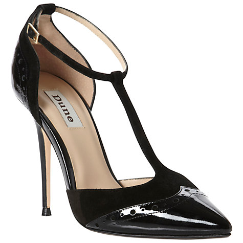 Buy Dune Capsule Patent T-Bar Court Shoes Online at johnlewis.com