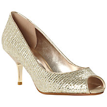 Buy Dune Decor Metal Heel Glitter Peep Toe Court Shoes Online at johnlewis.com
