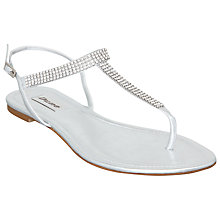 Buy Dune Klicking Metallic Diamante Trim T-Bar Sandals Online at johnlewis.com