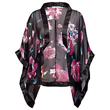 Buy Chesca Satin Trim Kimono, Multi Online at johnlewis.com