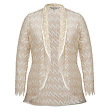 Buy Chesca Satin Trim Lace Shrug, Gold Online at johnlewis.com