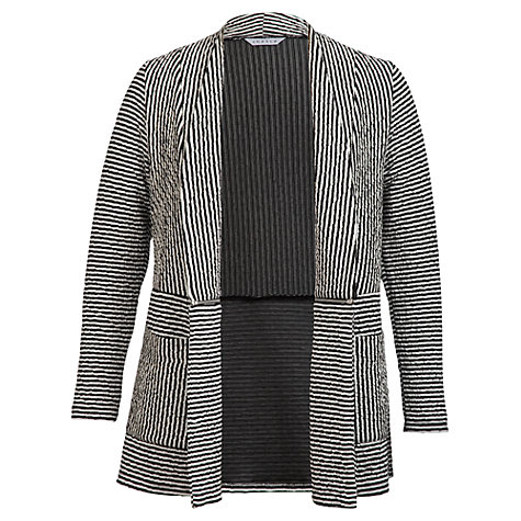 Buy Chesca Striped Cardigan, Black/Ivory Online at johnlewis.com