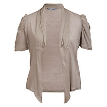 Buy Chesca Ruched Cardigan, Beige Online at johnlewis.com