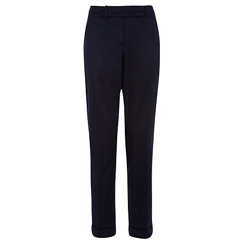 Buy Jigsaw Contemporary Tailored Trousers, Navy Online at johnlewis.com