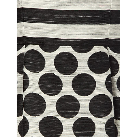 Buy Hobbs Invitation Harriet Dress, Black/Ivory Online at johnlewis.com