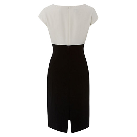Buy Hobbs Invitation Alexandra Dress, Black Ivory Online at johnlewis.com