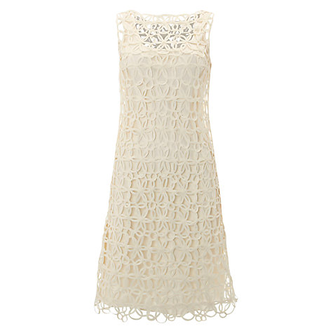Buy Hobbs Invitation Sonia Dress, Ivory Online at johnlewis.com
