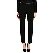 Buy Oasis Celeste Slim Line Trousers, Black Online at johnlewis.com