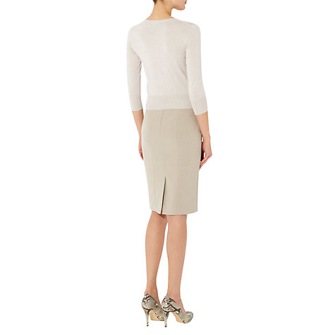 Buy Hobbs Alexandra Cardigan, Pebble Online at johnlewis.com