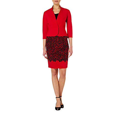 Buy Hobbs Invitation Neive Jacket, Ruby Online at johnlewis.com